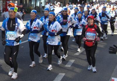 徳島大学のみなさんご一行 東京マラソン2008写真ありますC28043ほかゼッケン検索用