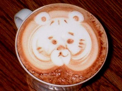 カフェアート003虎・トラでしょうか?