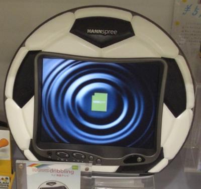 男子の憧れサッカーボール風液晶テレビ