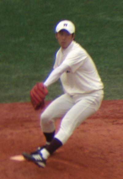 斉藤佑樹選手見事完投勝利投手