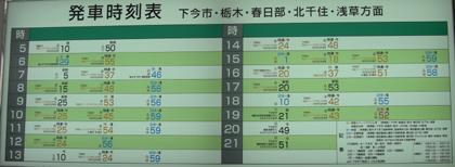 東武日光駅の時刻表 観光のご参考に