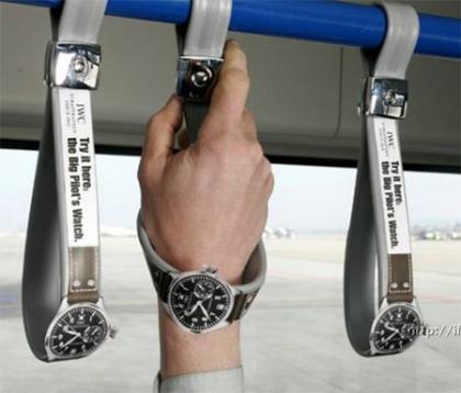 IWCの面白い広告・・・国際的に有名時計メーカー