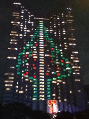 在りし日の赤坂プリンスホテルタワーのクリスマスツリーデコレーション画像