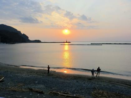 2011年10月8日西伊豆松崎海岸の綺麗な日没